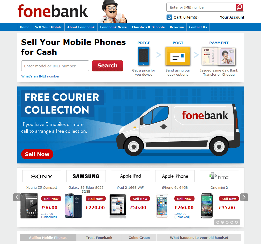 Visit Fone Bank UK to recycle your  mobile or tablets for cash with sell any mobile