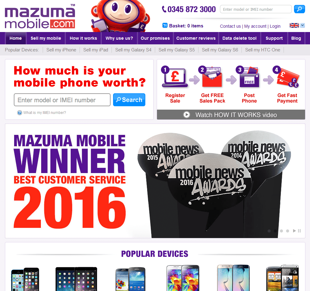 Visit Mazuma Mobile to recycle your  mobile or tablets for cash with sell any mobile