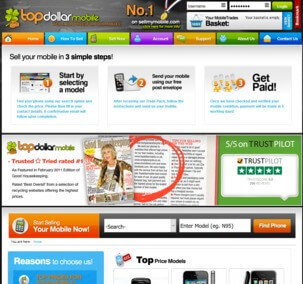 Visit Top Dollar Mobile to recycle your  mobile or tablets for cash with sell any mobile